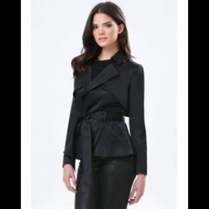 bebe Jackets & Coats - Bebe short black trench M